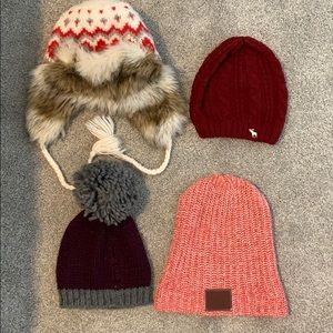 4 winter hats for $12